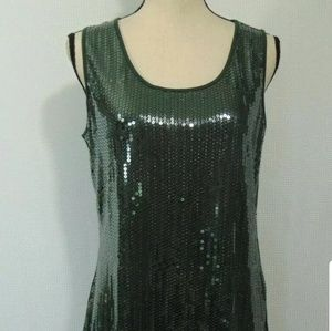 Sequined tank top cami